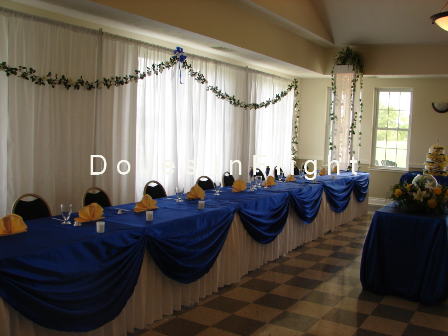 Royal Blue And Gold Table Decorations Photograph | Table Dec